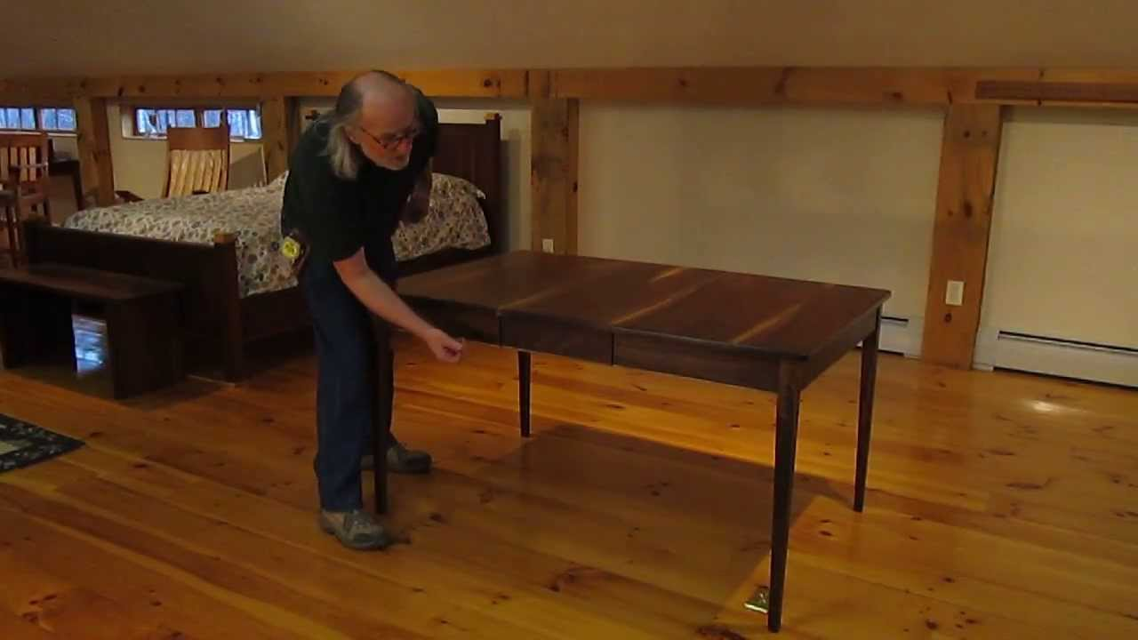 Bobs Furniture Kitchen Table Set Bob Gasperettis Dining Table With Leaves Stored Inside Youtube