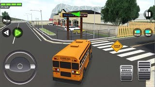 Super High School Bus: Driving Simulator 3D 2019 #1 - Car Parking Android iOS Gameplay