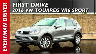 Here's the 2016 Volkswagen Touareg VR6 Sport on Everyman Driver