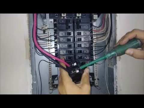 install a new 240 volt 50 amp cable for electrical range  part 3   connection to circuit breaker