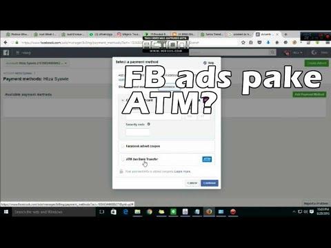 Cara mudah mengatur pembayaran Facebook Ads lewat ATM