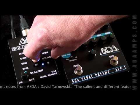 A/DA: GCS-2 Guitar Cabinet Simulator (with APP-1 Pedal Preamp)