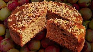 Пирог с яблоками. Выпечка для диеты диабетика и здорового питания на ржаной муке без сахара