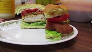 Fried Porkchop Sandwich