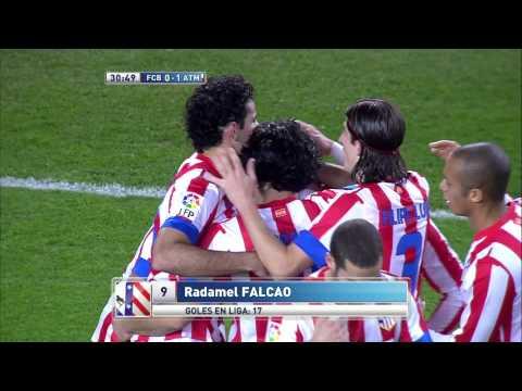 La Liga | Golazo de Falcao (0-1) en el FC Barcelona - Atlético de Madrid | 16-12-2012 | J16
