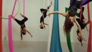 Lone Star Circus School Student Showcase - Advanced Aerial Silks Class Performance