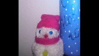 Как сделать помпон Снеговика из помпонов из пряжи своими руками Видео-урок Снеговик