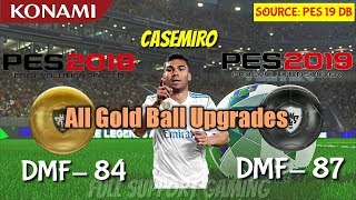 All Gold to Black Ball Upgrades in PES 19 Mobile || Official Ratings by Konami ||