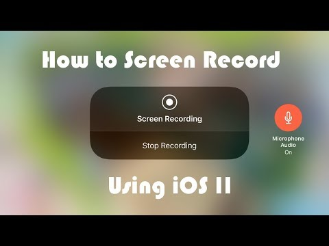 How to Record GamePlay, Let's Plays or Anything on your iPhone Screen Using iOS 11