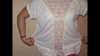 Как ушить футболку  дома без оверлока? Как укоротить длину футболки?