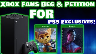 Xbox Fans Beg And Petition Sony For Spider-Man And Ratchet & Clank! Just Buy A PS5 Instead!