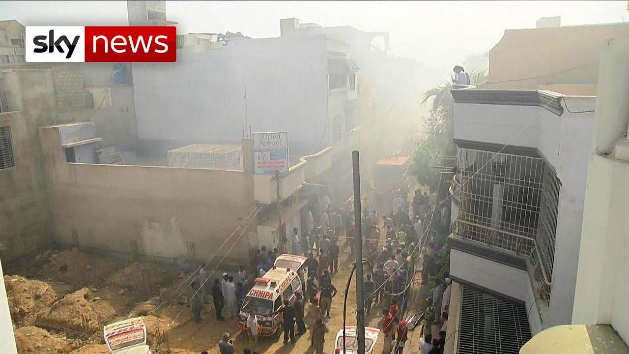 BREAKING: Plane carrying 107 people crashes in Karachi