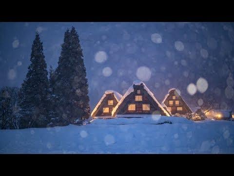 [4K] 2018 白川郷の雪景色とライトアップ World Heritage Shirakawago