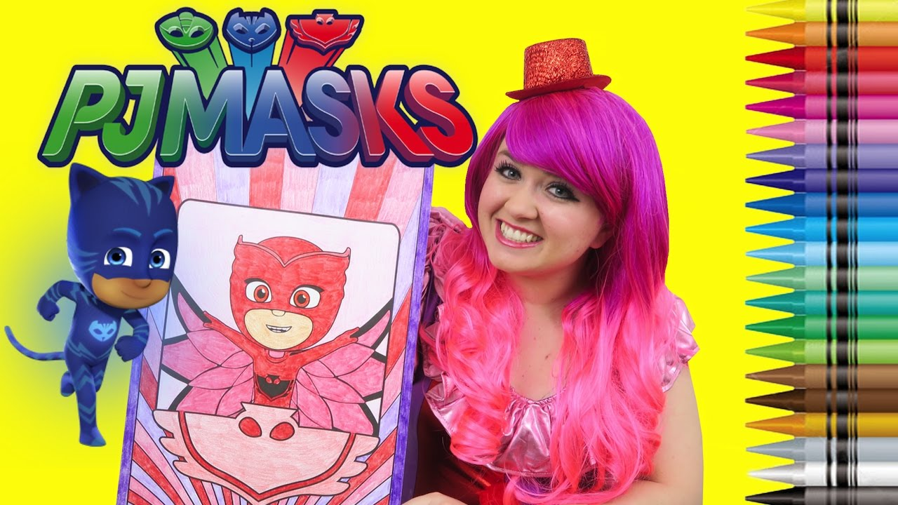 Coloring Owlette PJ Masks GIANT Book Page Crayola Crayons