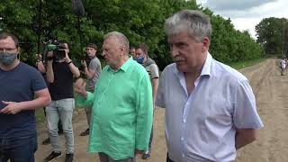 Жириновский приехал к Грудинину посмотреть как зреет земляника