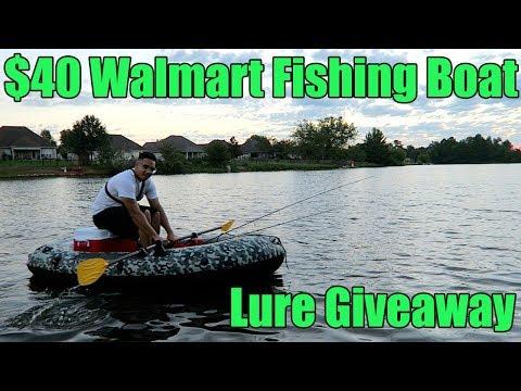 $40 Walmart Fishing Boat and Fishing Giveaway