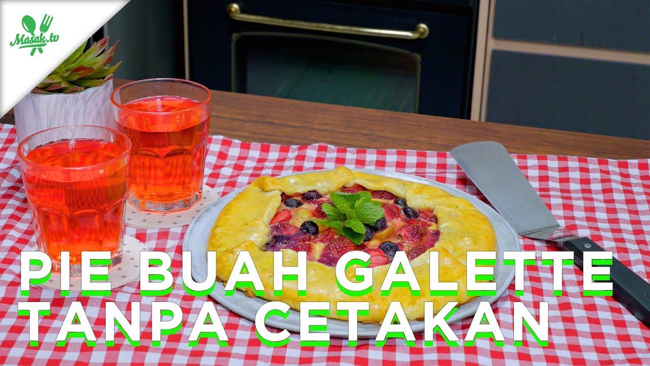 Pie Buah Galette Tanpa Cetakan