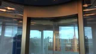 AMAZING!!! 1993 Round KONE Holeless Hydraulic Scenic Elevator @ SF Filmstaden, Gävle, Sweden.
