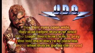 UDO - They Want War (HQ Lyrics)