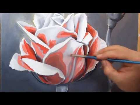 Art Lesson: How To Paint A Rose Using Oil Paint - Youtube