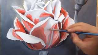 How to Paint a Rose in Oils, using the Flemish Technique