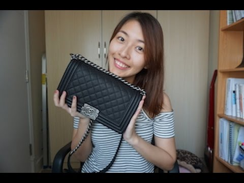 1a69c6dbf499 My New Chanel le Boy bag unboxing Reveal