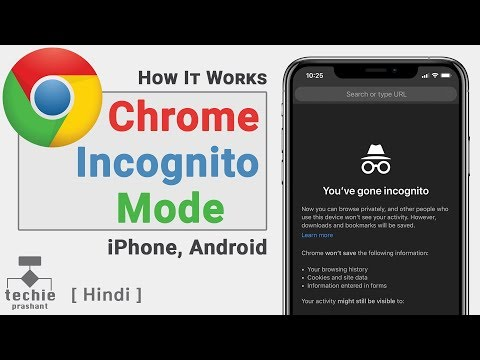 Google Chrome Browser Incognito Mode - IPhone / IPad / Android | Techie Prashant | HINDI