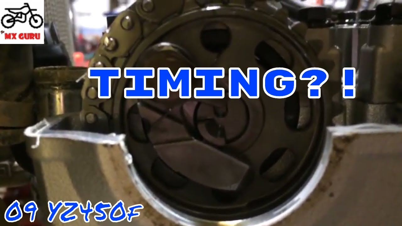 Yamaha YZ450f 2009 - How To Time Correctly / Verify Timing !