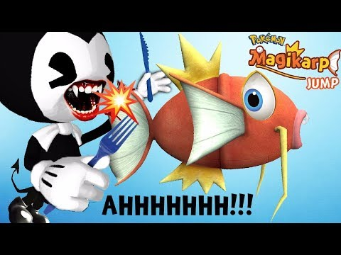 Thumbnail: BENDY & THE INK MACHINE DOESN'T EAT MAGIKARP JUMP IN THIS VID ⚠ CLICKBAIT ⚠ FGTEEV NEW POKEMON GAME