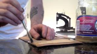 How to make a hand sewn leather Biker / Trucker wallet