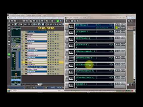 EWQLSO Keyswitch Map Template in Sonar, Part 1