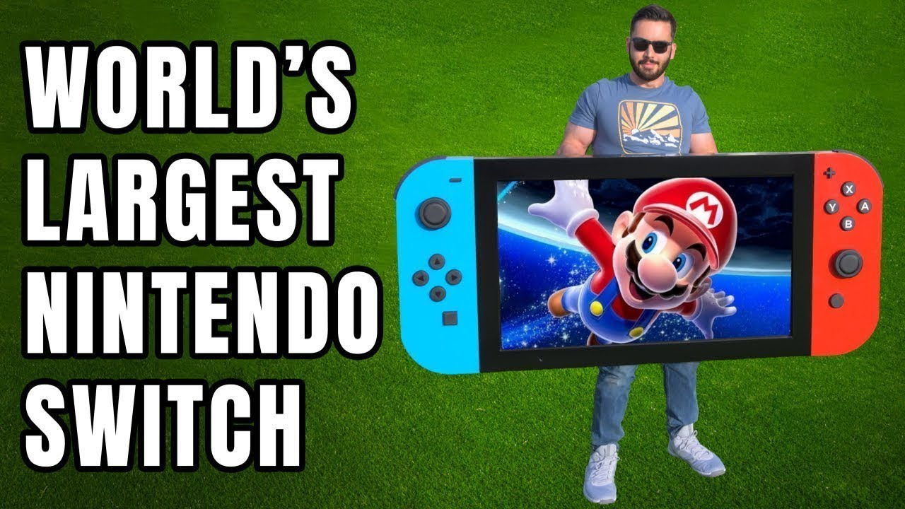 World's Largest Playable Nintendo Switch Stands at 30 Inches Tall and 70 Inches Wide