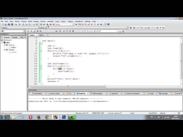 Programozási Tételek - Minimum Maximum