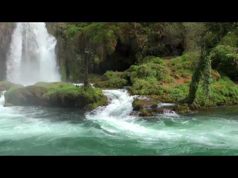 1 Hour Relaxation sufi music and beatiful waterfall