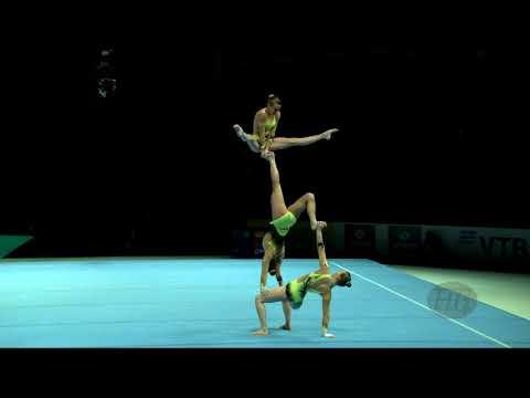 France (FRA) - 2018 Acrobatic Worlds, Antwerpen (BEL) - Combined  Women's Group