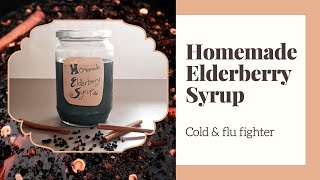How I help protect my family from flu season with elderberry syrup - Boost your immune system