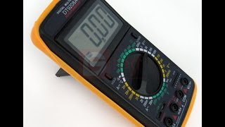 DT9208A мультиметр цифровой обзор