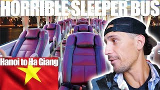 HORRIBLE SLEEPER BUS VIETNAM - Hanoi