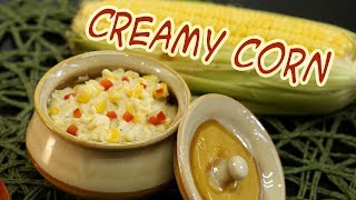 Creamed Corn Recipes / Home style cream Corn / Sweet Corn Recipes / crispy Corn Indian Recipes
