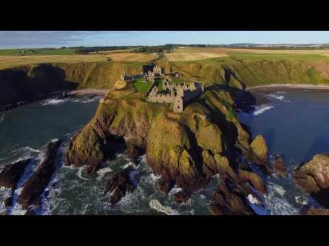 Dunnottar Castle Drone 9th october 2016