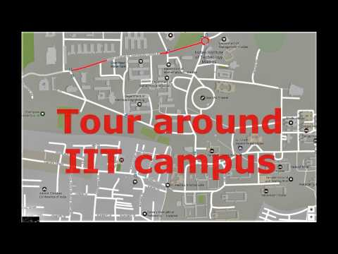Tour around campus at IITM