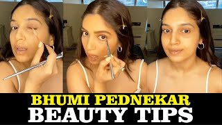 Bhumi Pednekar Super Easy Makeup Beauty Tips For Daily Routine | Makeup fun In Lockdown By Bhumi .