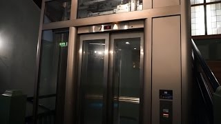 1980s Reber-Schindler M-series traction glass elevator @ Karl Johans gate 37, Oslo, Norway