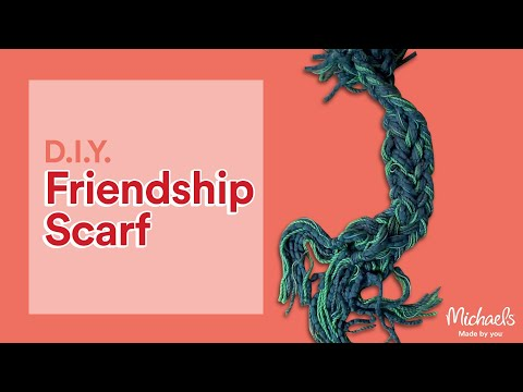 How To Make A Handmade Friendship Scarf Diy Holiday Michaels Youtube