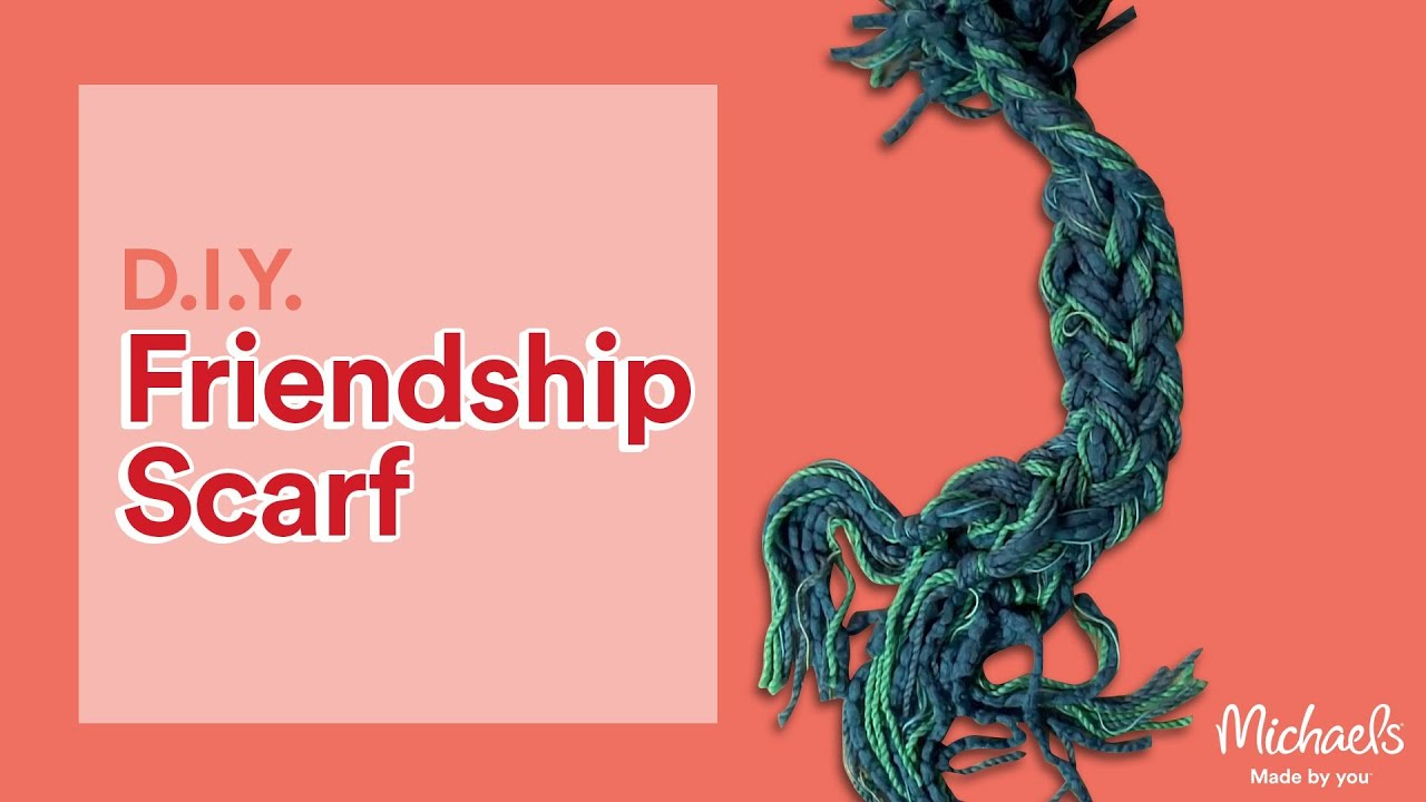 How to Make a Handmade Friendship Scarf | DIY Holiday | Michaels ...