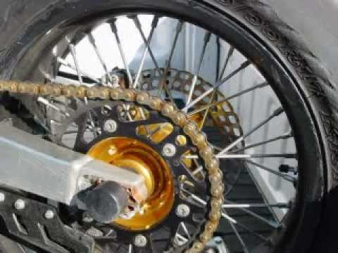 why is my rear supermoto tyre chewed away ? - YouTube