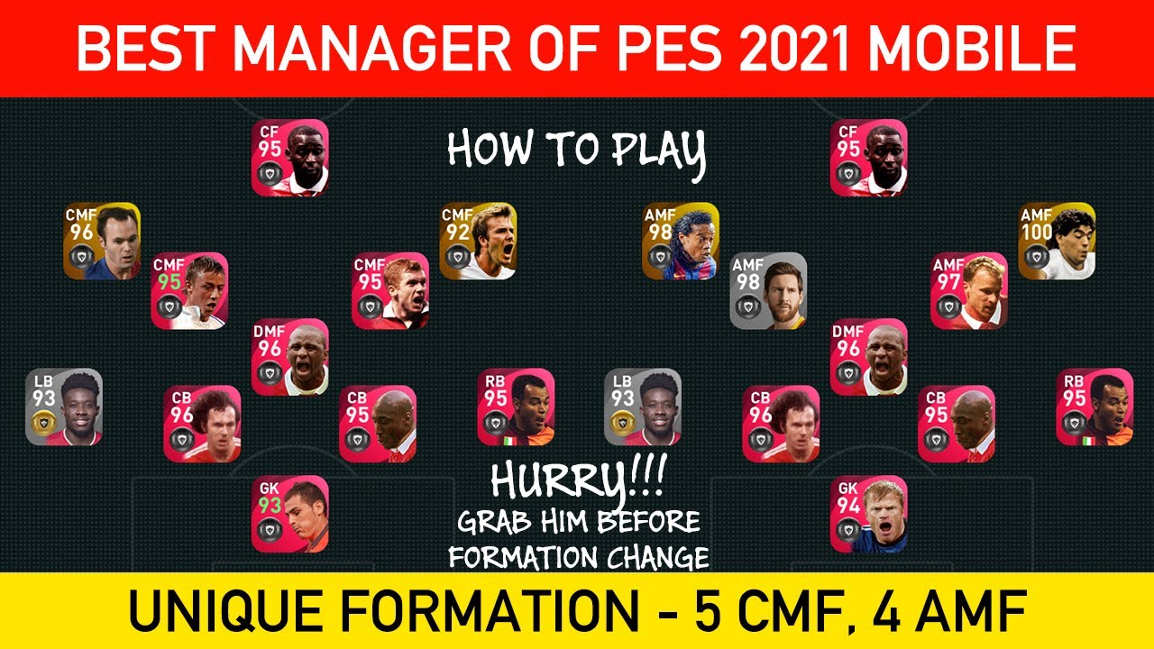 BEST MANAGER OF PES 2021 MOBILE