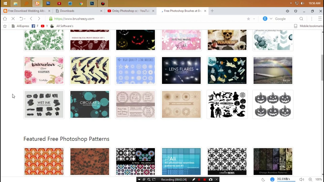 Free download wedding album template brush patterns youtube free download wedding album template brush patterns pronofoot35fo Images