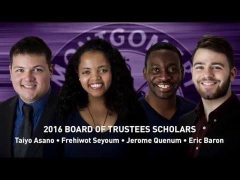Board of Trustees Scholars 2016: Montgomery College