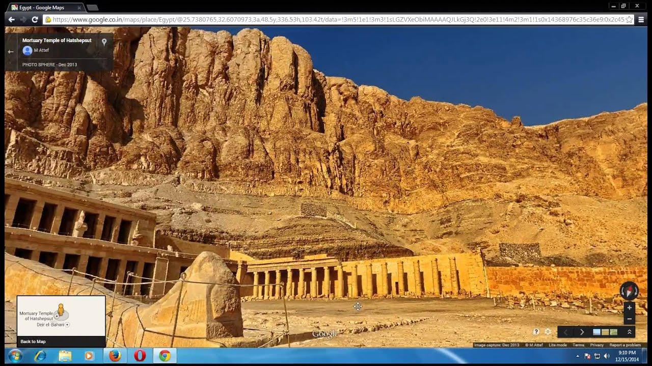Egypt Mortuary Temple Of Hatsheput From Google Map YouTube - Map of egypt google maps